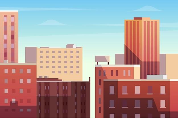 Carta da parati con il concetto di città urbana