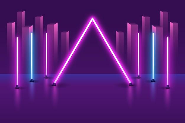 Carta da parati con il concetto di luci al neon