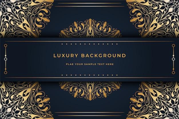 Carta da parati con il concetto di mandala di lusso