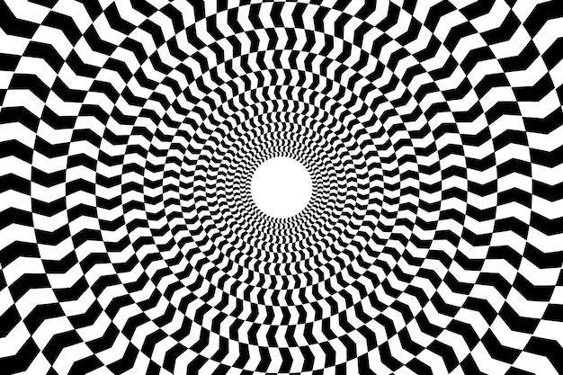 Carta da parati con illusione ottica psichedelica