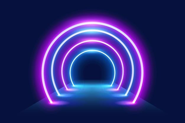 Carta da parati con luci al neon