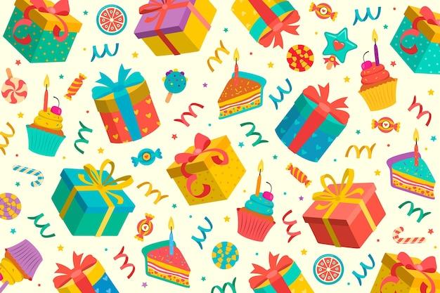Carta da parati di buon compleanno