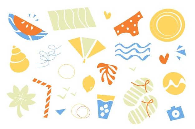 Carta da parati di forme organiche astratte disegnate a mano