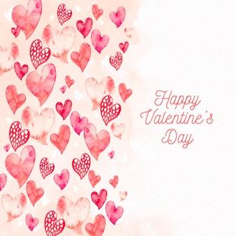 Carta da parati di san valentino dell'acquerello
