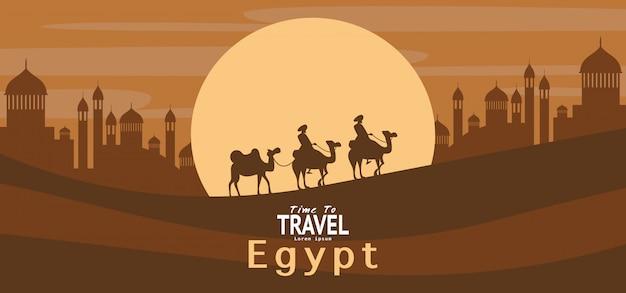 Carta da parati di vacanza viaggio vacanza egitto, banner, sfondo