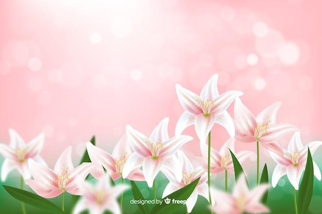 Carta da parati elegante con fiori