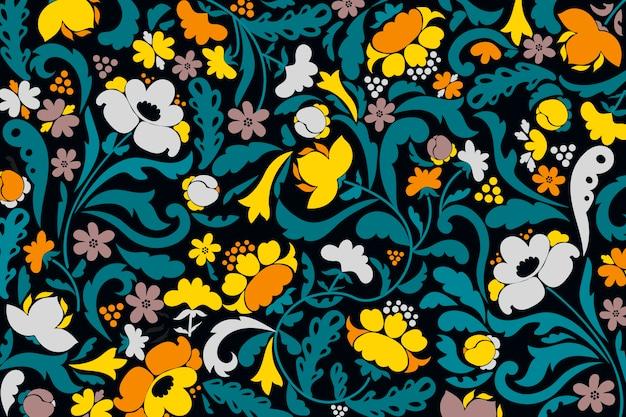 Carta da parati fiori ornamentali astratti