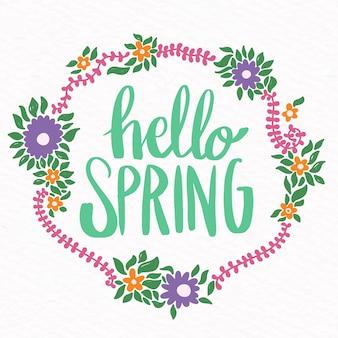 Carta da parati floreale ciao primavera