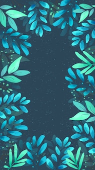 Carta da parati floreale dell'acquerello dello schermo mobile