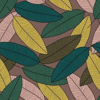 Carta da parati foglia d'autunno. fondo senza cuciture moderno foglie.