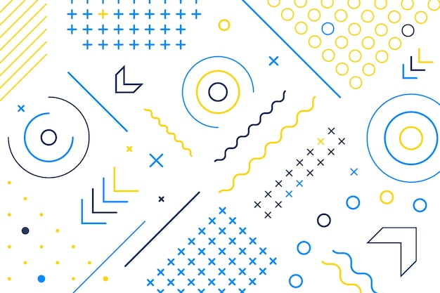 Carta da parati forme geometriche design piatto