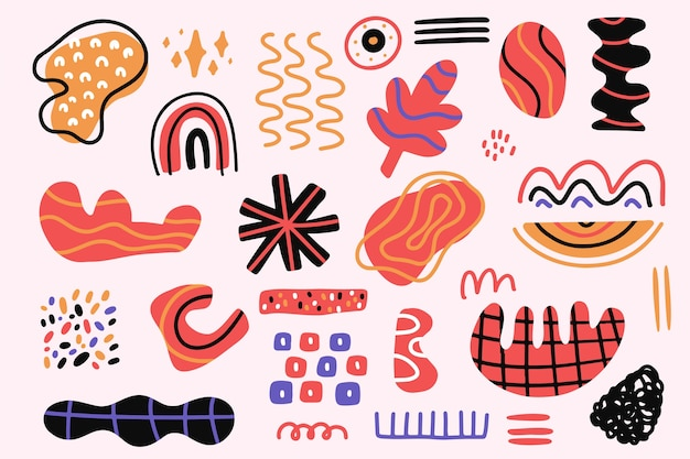 Carta da parati forme organiche disegnate a mano