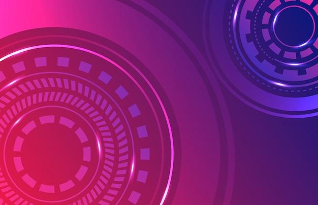 Carta da parati futuristica di tecnologia digitale del fondo astratto futuristico di fantascienza
