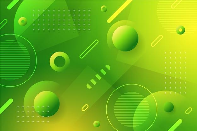 Carta da parati geometrica astratta verde