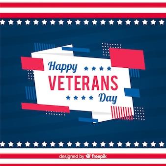 Carta da parati giorno veterani design piatto