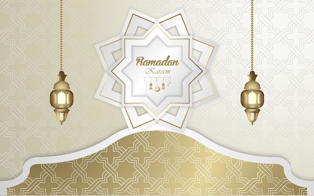 Carta da parati islamica di saluto ramadan kareem
