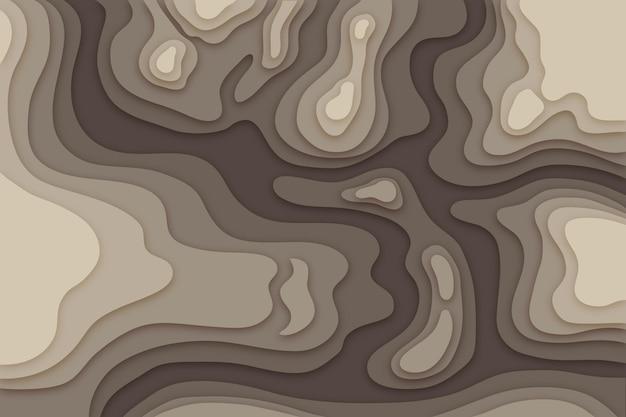 Carta da parati mappa topografica