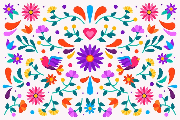 Carta da parati messicana colorata