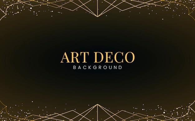Carta da parati minimalista in stile art deco con glitter dorati decorativi