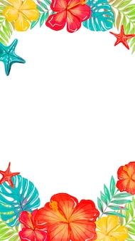 Carta da parati mobile con fiori tropicali