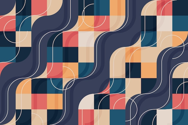 Carta da parati murale geometrica concetto