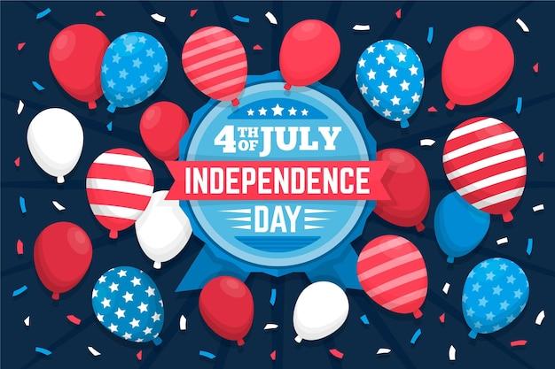 Carta da parati palloncini festa dell'indipendenza