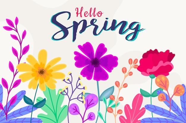 Carta da parati primavera con fiori