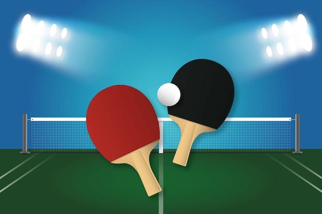 Carta da parati realistica da ping pong
