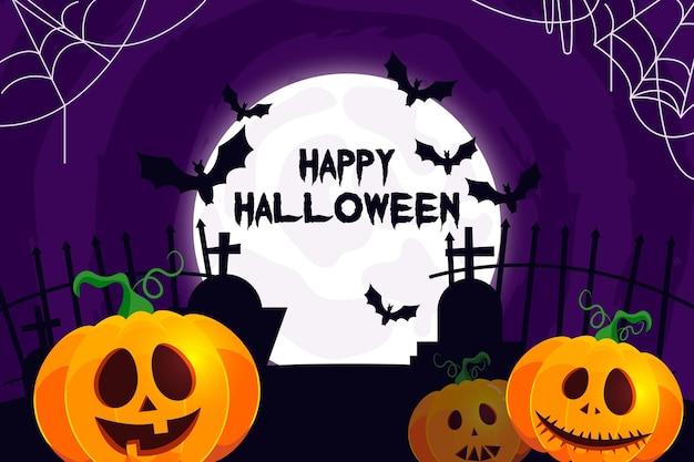 Carta da parati realistica di halloween