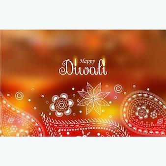 Carta da parati saluto diwali con decorazioni paisley