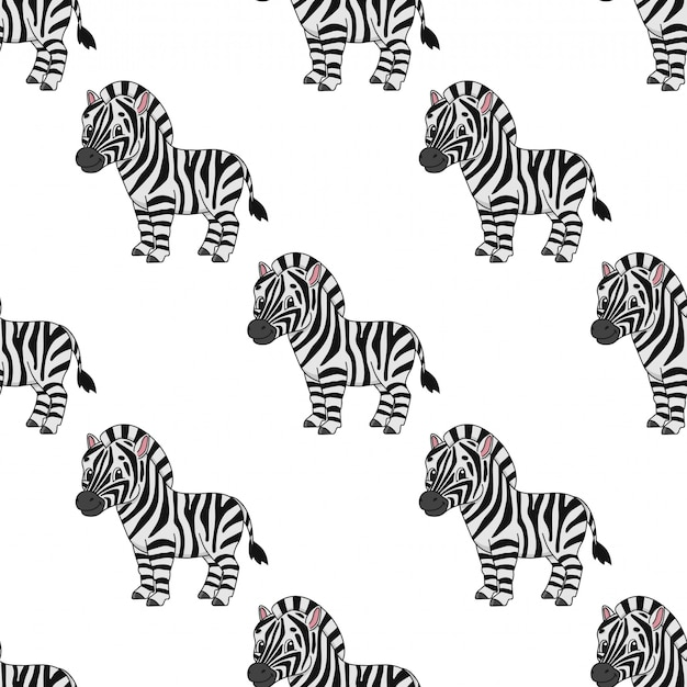 Carta da parati senza cuciture felice della zebra