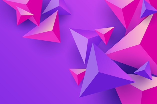 Carta da parati triangoli rosa e viola