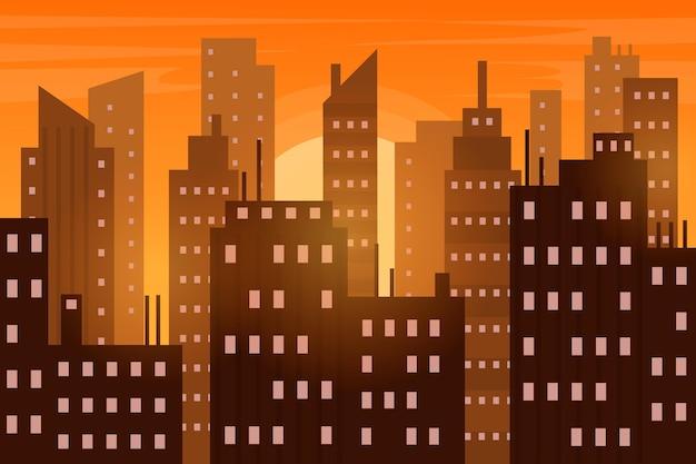 Carta da parati urbana della città per le videoconferenze