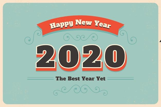 Carta da parati vintage del nuovo anno 2020