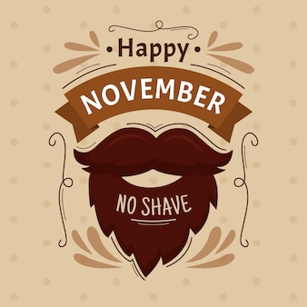Carta da parati vintage movember no shave
