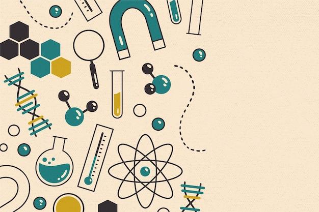 Carta da parati vintage scienza