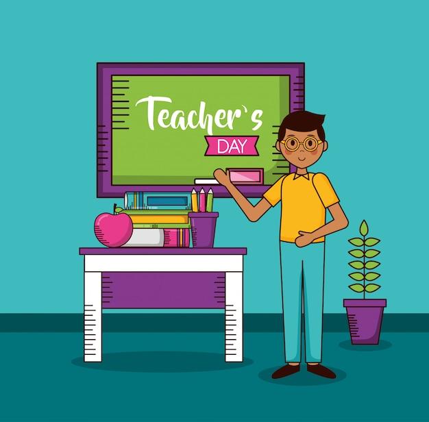 Carta del giorno degli insegnanti felici