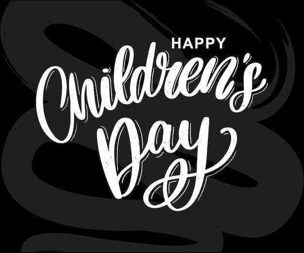 Carta del giorno dei bambini felici
