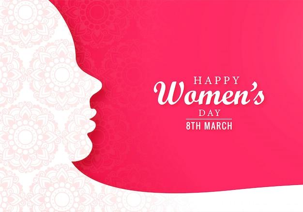 Carta del giorno delle donne felici internazionali