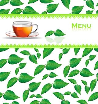 Carta del menu del tè