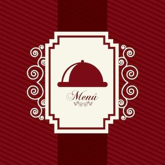 Carta del menu rosso su sfondo rosso illustrazione vettoriale