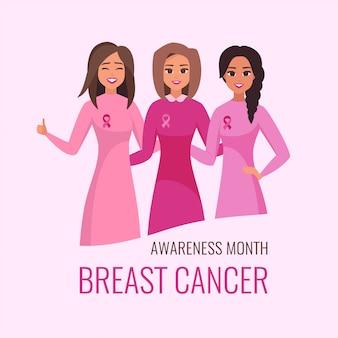 Carta del mese nazionale di sensibilizzazione sul cancro al seno