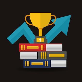 Carta del vincitore del concetto di successo