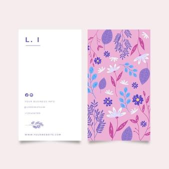 Carta dell'azienda con splendidi fiori