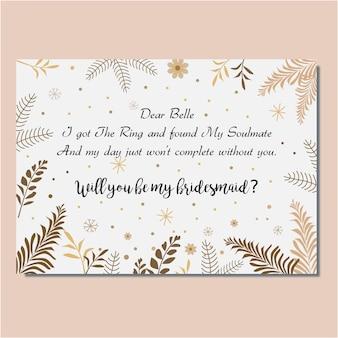 Carta della sposa con design vintage