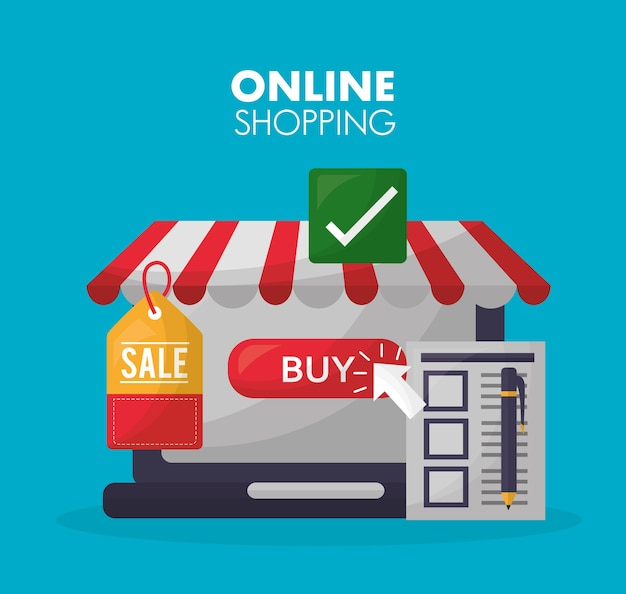 Carta dello shopping online