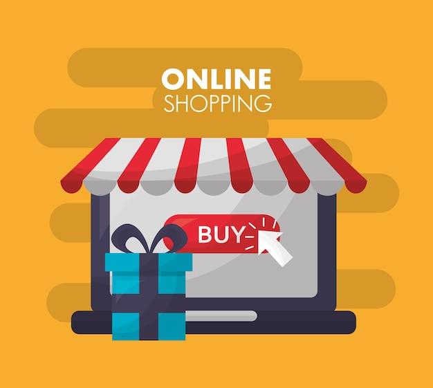 Carta dello shopping online