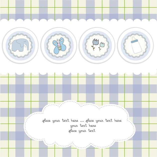 Carta di annuncio del neonato