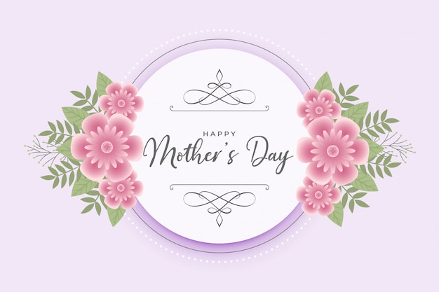 Carta di auguri felice festa della mamma fiore