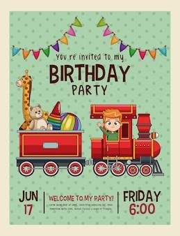 Carta di bambini invito di buon compleanno